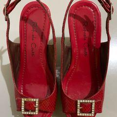 17313c6acc sandália anabela vermelha rafaela coutti