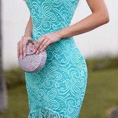 771a5be35285 Vestido De Festa Azul Renda Sereia | Comprar Vestido De Festa Azul ...