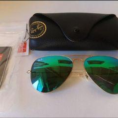 ce058fd3f Oculos De Sol Ray Ban Aviador Lente Espelhado | Comprar Oculos De ...