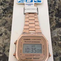 30e79431c158 relógio casio vintage aço rosê novo com manual e caixa
