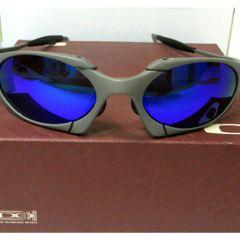 32ce9f67e frete grátis. óculos de sol oakley romeo 1 azul xmetal polarizada novo na  caixa