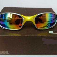 b22cf090677c1 óculos de sol oakley juliet 24k xmetal lente arco íris novo na caixa