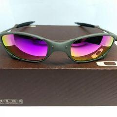 103dbe70fd53a óculos de sol oakley juliet xmetal lente polarizada rosa novo na caixa