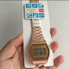 57016673afa5 relógio casio vintage b640 rosê novo com manual e caixa