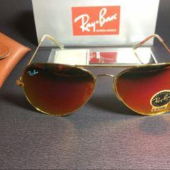 c3dab24d2 óculos de sol ray ban aviador vermelho unissex novo na caixa com acessórios