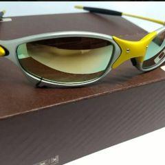6de73c67cf8a9 óculos de sol oakley juliet xmetal 24k lente gold novo na caixa