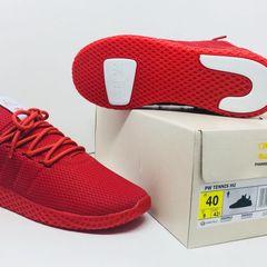 more photos 4c33b 8a6ee tênis feminino adidas hu pharrell williams vermelho nº 36 + frete grátis