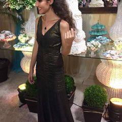 9c41ed26de vestido longo em lurex