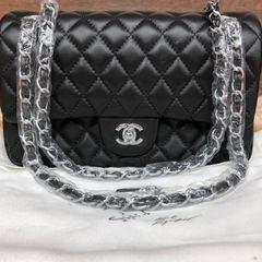 4d5693e79 Bolsa Preta Chanel Classic Flap | Comprar Bolsa Preta Chanel Classic ...