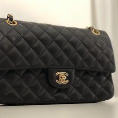 8cf41ec29 Bolsa Chanel Preta Flap | Comprar Bolsa Chanel Preta Flap | Enjoei