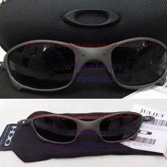 df74668b6 oculos oakley juliet xmetal lente black total g20 polarizada + case rigido  porta oculos u.s.a