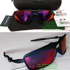 eebabe3a1 oculos oakley badman black fosco lente dark ruby polarizada + case rigido  porta oculos u.s.a