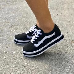754701d8793 Tenis Vans Old Skool Cano Alto - Encontre mais belezas mil no site ...