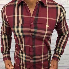 8cff4ee2fe37e kit 2 camisas social burberry masculino manga longa
