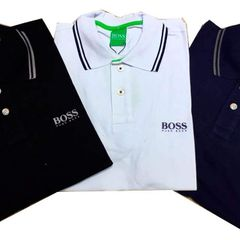 961288d2233 kit 3 camisa polo hugo boss gola listrada coleção preto