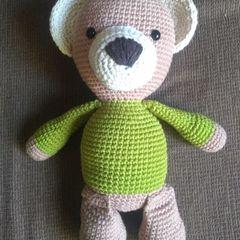 Urso de crochê (Amigurumi) - Marrom com focinho branco no Elo7 ... | 240x240