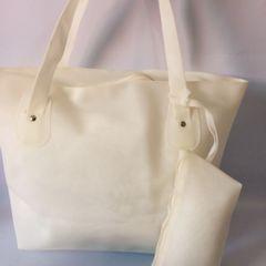 d7e151b87db5 bolsa silicone praia moda branco feminino defeito de fabrica