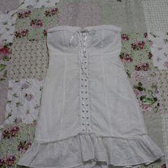 0ef9a36b1d vestido branco curto la rossi