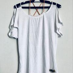 fdc9c5da87 Blusa Caida No Ombro Branca