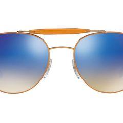 69c10e02b novo! óculos de sol original ray-ban modelo: rb3540 198/8b