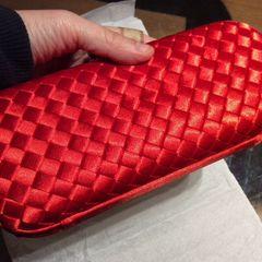 bb83516b6 Clutch Em Cetim Vermelha | Comprar Clutch Em Cetim Vermelha | Enjoei
