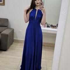 615db69317 vestido de festa longo azul royal