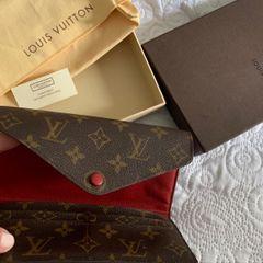 2f73303215 carteira louis viutton original !!! lindíssima com detalhes em vermelho  escuro