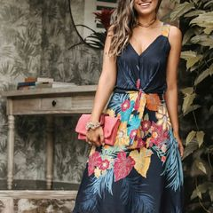 185135b3de vestido midi estampado love it