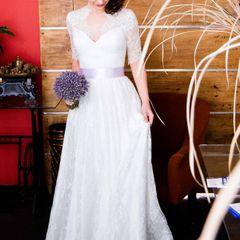 fb2bb5e260 Vestido De Noiva Off White Longo Com Renda