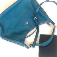 7d6dc67cd frete grátis. bolsa de couro coach verde original pouquíssimo usada