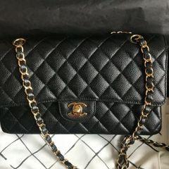 342274e21 Bolsa Preta Chanel Classic Flap | Comprar Bolsa Preta Chanel Classic ...