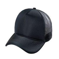 e3a0c95bde boné masculino trucker aba curva liso telinha ajustável - preto