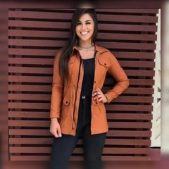 1d76b316ef jaqueta feminina parka casaco sobretudo acinturado caramelo