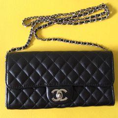 ad7dc8836 Bolsa Preta Chanel Classic Flap | Comprar Bolsa Preta Chanel Classic ...