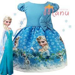 Vestido Elsa Frozen Comprar Vestido Elsa Frozen Enjoei