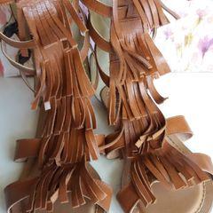 6938588018 sandália boho chic gladiadora couro legítimo