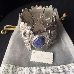 ccf3d76675730 bracelete pulseira camila klein coruja prateado com pedra azul e cristais  swarovski