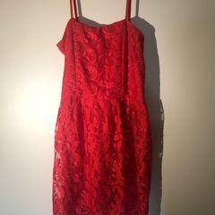 0ee7373b5c vestido vermelho renda curto avanzzo