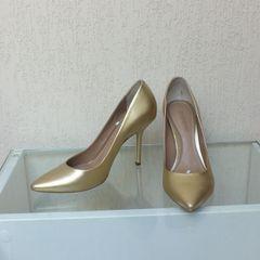 a01754e860 Sapato Dumond Scarpin Metalizado