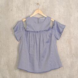 blusa azul babados le lis blanc 44063187
