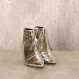 bota cano baixo prata zara 41009171