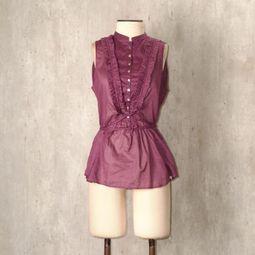 blusa roxa babado zara 44278955