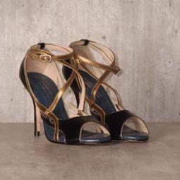 sandalia azul e dourada masque 35307904