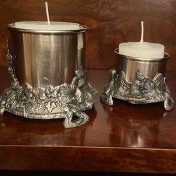 par de casticais em prata 44116472