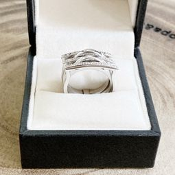 anel ouro branco 18k 46114916