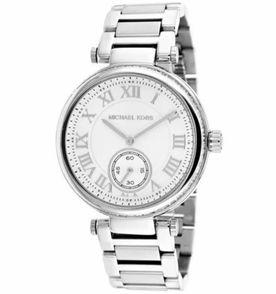 c518e238bd9da relógio mk michael kors mk5866 prata e branco original + caixa e manual  bh3839
