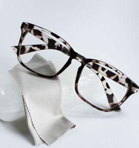 armação óculos para grau feminina quadrada retangular básica oncinha  tartaruga 9265bd407a