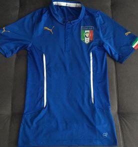 cdb3a1ca3d camisa puma itália home 2014 modelo jogador actv cod. 744287 - raridade!