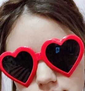dd6a114deea39 Oculos Coracao Vermelho - Encontre mais belezas mil no site  enjoei ...