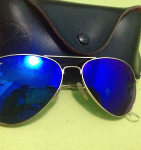 Óculos Verde Azulado Espelhado Moda Aviador Retro Fashion ... c426babd07